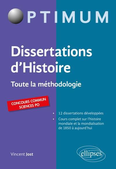 Livre sur la méthode de la dissertation d'histoire : démarches, étapes, exemples.