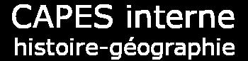 Capes interne d'histoire-géographie