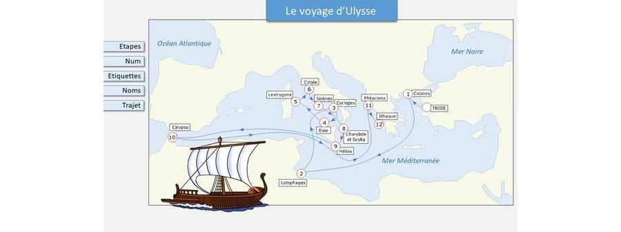 Carte du voyage d